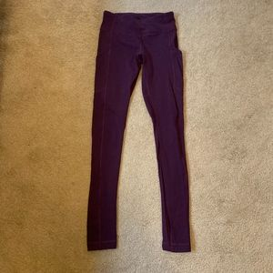 Lululemon Purple/Red/Maroon Leggings
